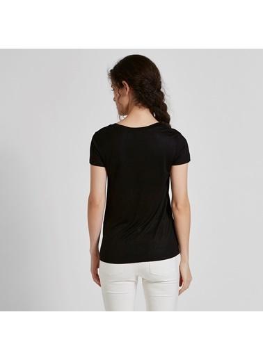 Vekem-Limited Edition V Yaka Kısa Kollu Bluz Siyah